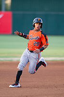 AZL Giants left fielder Ismael Munguia (29) advances to third base during a game against the AZL Angels on July 9, 2017 at Diablo Stadium in Tempe, Arizona. AZL Giants defeated the AZL Angels 8-4. (Zachary Lucy/Four Seam Images)