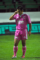 Referee Aki Aso waits for a TMO decision during the ITM Cup rugby match between Manawatu Turbos and Canterbury at FMG Stadium, Palmerston North, New Zealand on Thursday, 3 September 2015. Photo: Dave Lintott / lintottphoto.co.nz