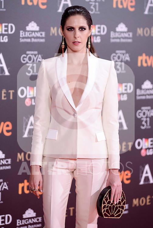 Barbara Santa Cruz attends to the Red Carpet of the Goya Awards 2017 at Madrid Marriott Auditorium Hotel in Madrid, Spain. February 04, 2017. (ALTERPHOTOS/BorjaB.Hojas)