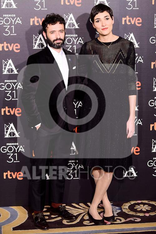 Rodrigo Sorogoyen and Isabel Pena attends to the 2017 Goya Awards Candidates Cocktail at Ritz Hotel in Madrid, Spain. January 12, 2017. (ALTERPHOTOS/BorjaB.Hojas)