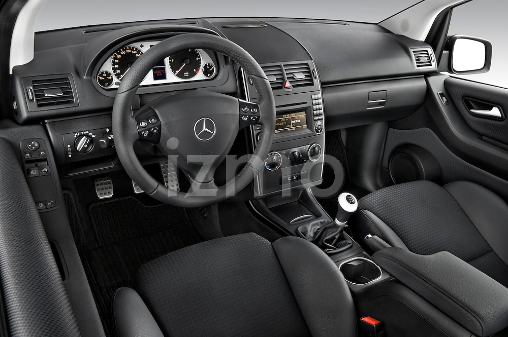 High angle dashboard view of a 2009 Mercedes A Class Blue Efficiency 3 Door Mini MPV