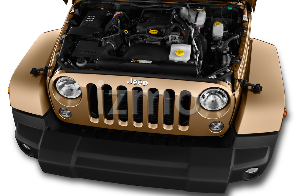 Car Stock 2016 JEEP Wrangler Sahara 5 Door SUV Engine  high angle detail view