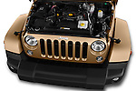 Car Stock 2016 JEEP Wrangler Sahara 5 Door SUV Engine  high angle detail view