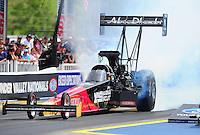 Jun. 19, 2011; Bristol, TN, USA: NHRA top fuel dragster driver Rod Fuller during eliminations at the Thunder Valley Nationals at Bristol Dragway. Mandatory Credit: Mark J. Rebilas-