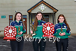Orlaith O'Connor joint Ladies Young Player of the Year, Deirdre Moynihan Ladies Player of the Year and Shona Doody  joint Ladies Young Player of the Year at the Legion GAA awards at their club on Friday