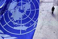 Italia Torino OIL International Labour Office Struttura ONU di formazione . Bandiera dell'ONU