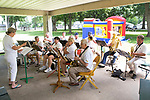 June 24, 2017- Tuscola, IL- The Hometown Band performs during T.K. Martin VFW Post 10009's free community lunch at Ervin Park. [Photo: Douglas Cottle]