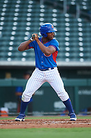 AZL Cubs 2 Carlos Morfa (27) at bat during an Arizona League game against the AZL Reds on July 23, 2019 at Sloan Park in Mesa, Arizona. AZL Cubs 2 defeated the AZL Reds 5-3. (Zachary Lucy/Four Seam Images)