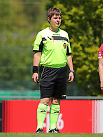 Referee Sylvie Deckers pictured before a female soccer game between Standard Femina de Liege and Oud Heverlee Leuven on the 10th and last matchday in play off 1 of the 2020 - 2021 season of Belgian Scooore Womens Super League , saturday 29 th of May 2021  in Angleur , Belgium . PHOTO SPORTPIX.BE | SPP | SEVIL OKTEM
