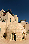 Judea, Hebron Mountain. The dome of Abraham Avinu Synagogue at the Jewish quarter in Hebron