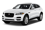 2020 Jaguar F-Pace Prestige 5 Door SUV Angular Front stock photos of front three quarter view