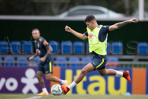 12th November 2020; Granja Comary, Teresopolis, Rio de Janeiro, Brazil; Qatar 2022 World Cup qualifiers; Bruno Guimaraes of Brazil during training session