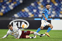 Matteo Politano of SSC Napoli compete for the ball<br /> during the Europa League Group Stage F football match between SSC Napoli and Rijeka HNK at stadio San Paolo in Napoli (Italy), November 26th, 2020.<br /> Photo Cesare Purini / Insidefoto