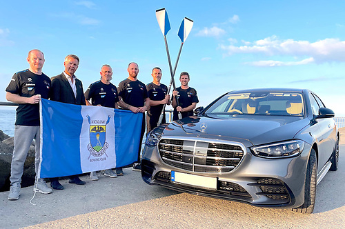 The Wicklow Rowing Club has support of the Mercedes-Benz organisation in Ireland towards its participation at the World Rowing Coastal Championships which take place in Portugal next month. Pictured at the announcement was Mercedes-Benz Chief Executive, Paddy Finnegan (second left) with team members Marc Nichols, Shay Dunne, Andrew Breen, Chris Dunne and Peter Doyle.