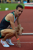 Julian Oakley after winning the men's 1500m. 2021 Capital Classic athletics at Newtown Park in Wellington, New Zealand on Saturday, 20 February 2021. Photo: Dave Lintott / lintottphoto.co.nz