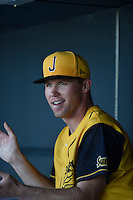 ***Temporary Unedited Reference File***Jacksonville Suns relief pitcher Tyler Higgins (35) during a game against the Mississippi Braves on May 1, 2016 at The Baseball Grounds in Jacksonville, Florida.  Jacksonville defeated Mississippi 3-1.  (Mike Janes/Four Seam Images)