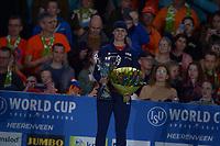SCHAATSEN: HEERENVEEN: 07-03-2020, IJsstadion Thialf, ISU World Cup Final, Final Podium 1000m Ladies, Brittany Bowe (USA), ©foto Martin de Jong