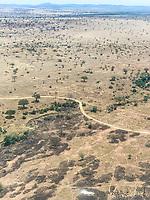 Tanzania. Serengeti Plain from the Air.