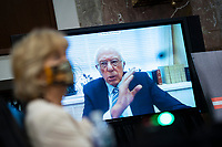 United States Senator Bernie Sanders (Independent of Vermont), speaks via teleconference during a hearing in Washington, D.C., U.S., on Tuesday, June 30, 2020. Top federal health officials are expected to discuss efforts to get back to work and school during the coronavirus pandemic. <br /> Credit: Al Drago/CNP/AdMedia