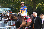 """10 09 2010: Uncle Mo with John Velazquez up shows he's the real deal by winning the 139th running of the Grade I Champagne Stakes for 2-year olds at 1 mile, a """"Win qnd You're In Breeders Cup"""", Belmont Park, Elmont, NY. Trainer Todd Pletcher.  Owners Repole Stable"""