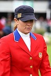 Equestrian - Showjumping - Meydan FEI Nations Cup .Cara Raether (USA) who rides Ublesco in the Meydan FEI Nations Cup at the Royal Dublin Society (RDS) in Dublin.