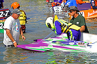 """6-H """"The agony of defeat"""" (jumped the gun)   (Outboard Hydroplane)"""