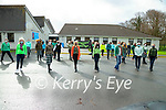Students in Presentation secondary, Tralee having a ceilidh's to celebrate Seachtain na Gaeilge
