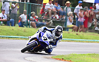 Josh Hayes races to victory in SUnday's American Superike race at the Suzuki Big Kahuna Nationals, Virginia International Raceway, Alton, VA, August 2009. (Photo by Briain Cleary/www.bcpix.com)