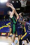 LLIGA NACIONAL CATALANA ACB 2020 AON.<br /> Morabanc Andorra vs Club Joventut Badalona: 77-75.<br /> Simon Birgander vs Nacho Llovet.