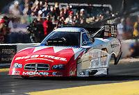 Oct. 14, 2011; Chandler, AZ, USA; NHRA funny car driver Johnny Gray during qualifying at the Arizona Nationals at Firebird International Raceway. Mandatory Credit: Mark J. Rebilas-