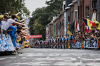 Belgian Team leading the peloton up the Wijnpers<br /> <br /> Men Elite – Road Race (WC)<br /> Race from Antwerp to Leuven (268.3km)<br /> <br /> ©kramon