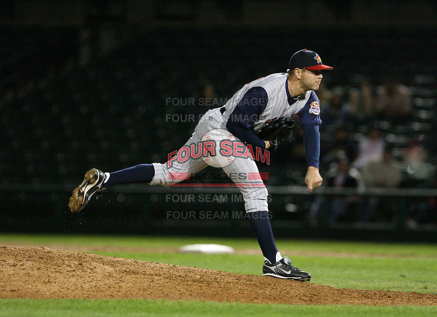 2007:  Corey Hamman of the Toledo Mudhens delivers a pitch vs. the Rochester Red Wings in International League baseball action.  Photo By Mike Janes/Four Seam Images