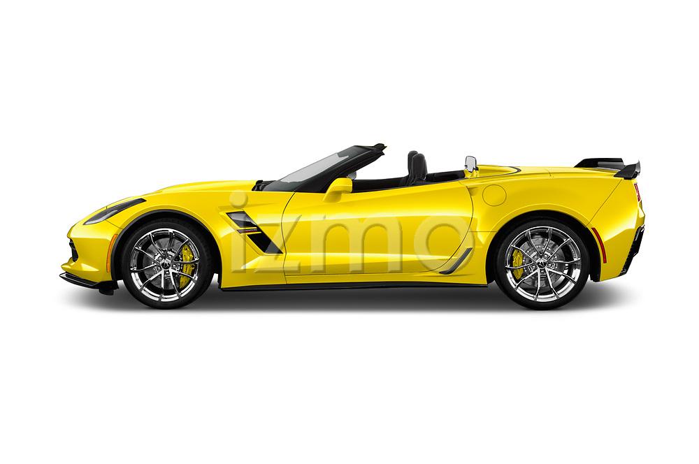Car Driver side profile view of a 2018 Chevrolet Corvette Grand-Sport-3LT 2 Door Convertible Side View