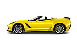 Car Driver side profile view of a 2018 Chevrolet Corvette Grand-Sport-3LT 2 Door Convertible Side View