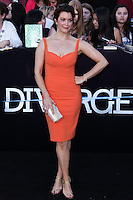 """WESTWOOD, LOS ANGELES, CA, USA - MARCH 18: Bellamy Young at the World Premiere Of Summit Entertainment's """"Divergent"""" held at the Regency Bruin Theatre on March 18, 2014 in Westwood, Los Angeles, California, United States. (Photo by David Acosta/Celebrity Monitor)"""