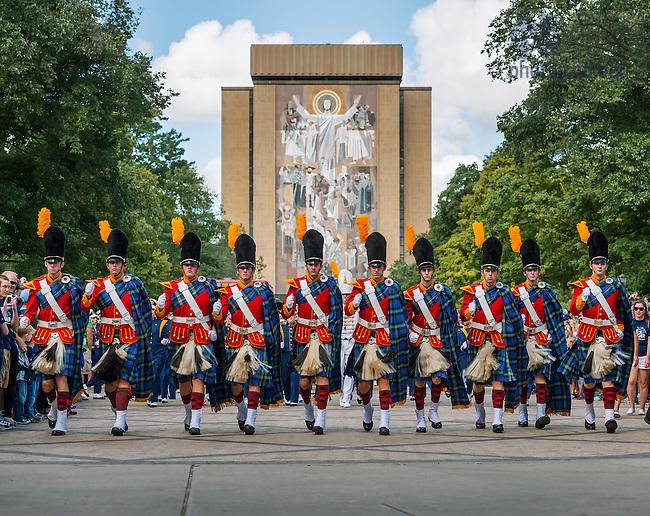 Sep 8, 2012; The Irish Guard march into the stadium...Photo by Matt Cashore