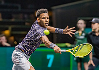 Rotterdam, The Netherlands, 12 Februari 2020,  Felix Auger-Aliassime (CAN)<br /> Photo: www.tennisimages.com