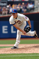 New York Mets pitcher Jason Isringhausen #45 during a game against the Milwakee Brewers at Citi Field on August 21, 2011 in Queens, NY.  Brewers defeated Mets 6-2.  Tomasso DeRosa/Four Seam Images