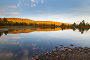 Coffin Pond in Sugar Hill, New Hampshire USA on an autumn morning.