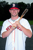 Catcher Andrew Noviello, chosen by the Boston Red Sox in the 2015 Major League Baseball Player Draft, poses for a photo on the campus of Bridgewater-Raynham High School on June 16, 2015 in Bridgewater, Massachusetts. (Ken Babbitt/Four Seam Images)