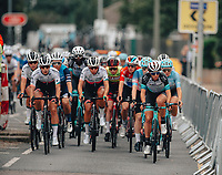 8th October 2021; AJ Bell Womens Cycling Tour, Stage 5, Colchester to Clacton on Sea.  The peloton arrives in Clacton.