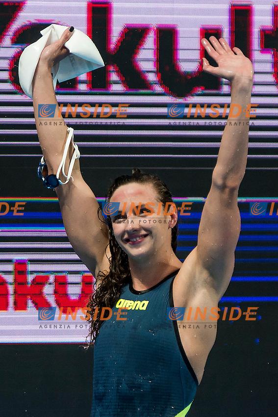HOSSZU Katinka HUN<br /> 200 Medley Women Semifinal European Record<br /> Swimming Kazan Arena<br /> Day10 02/08/2015<br /> XVI FINA World Championships Aquatics Swimming<br /> Kazan Tatarstan RUS July 24 - Aug. 9 2015 <br /> Photo A.Masini/Deepbluemedia/Insidefoto