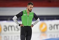 SCHAATSEN: HEERENVEEN: 28-11-2020, IJsstadion Thialf, Daikin NK Sprint, Kjeld Nuis baalt na de foute wissel tijdens de 500 meter Ronald Mulder, ©foto Martin de Jong