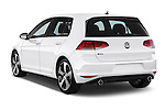Car pictures of rear three quarter view of a 2015 Volkswagen GTI DSG SE PZEV 5 Door Hatchback Angular Rear