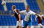 St Johnstone v Hearts...03.08.14  Steven Anderson Testimonial<br /> Billy King and Ally Gilchrist<br /> Picture by Graeme Hart.<br /> Copyright Perthshire Picture Agency<br /> Tel: 01738 623350  Mobile: 07990 594431