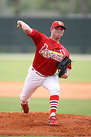 April 14, 2009:  Pitcher Scott Gorgen of the St. Louis Cardinals extended spring training team during a game at Roger Dean Stadium Training Complex in Jupiter, FL.  Photo by:  Mike Janes/Four Seam Images