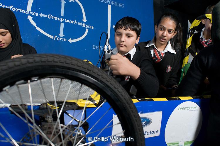 Nikhil Kuffir and Yoshna Mepani, Engineering Club at Little Ilford School, Newham, London.