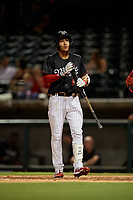 Birmingham Barons Laz Rivera (5) at bat during a Southern League game against the Chattanooga Lookouts on July 24, 2019 at Regions Field in Birmingham, Alabama.  Chattanooga defeated Birmingham 9-1.  (Mike Janes/Four Seam Images)