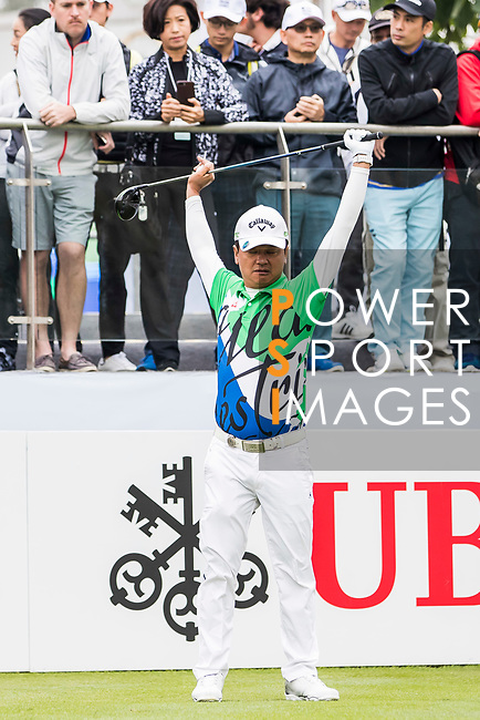 Wen-Tang Lin of Taiwan warms up during the day three of UBS Hong Kong Open 2017 at the Hong Kong Golf Club on 25 November 2017, in Hong Kong, Hong Kong. Photo by Yu Chun Christopher Wong / Power Sport Images