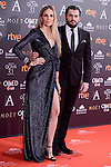 Carola Baleztena and Emiliano Suarez attends to the Red Carpet of the Goya Awards 2017 at Madrid Marriott Auditorium Hotel in Madrid, Spain. February 04, 2017. (ALTERPHOTOS/BorjaB.Hojas)